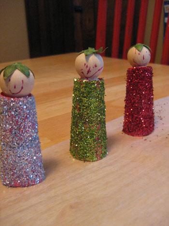 Glitter drying